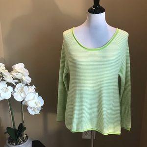 Joie Soft Green Striped Hidalgo Sweater
